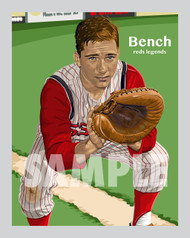 Digital Illustration of Johnny Bench – Hall of Famer and one of the All-Time great Diamond Legends of baseball!