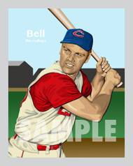 Digital illustration of one of the All-Time Reds greats, Gus Bell.