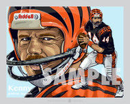 Digital Illustration of Kenny Anderson - one of Cincinnati's all-time gridiron greats quarterback!!
