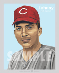 Digital Illustration of Hall of Famer and Cincinnati great, Johnny Bench!!