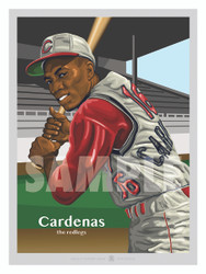 Digital Illustration of an all time Cincinnati fan favorite Leo Cardenas!