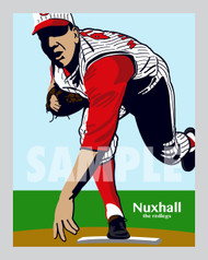 Digital illustration of one of Cincinnati's All-Time Reds greats, Joe Nuxhall!