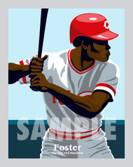Digital Illustration of George Foster - one of the All-Time Greats from the Big Red Machine!