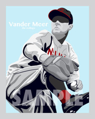 Digital Illustration of one of the All-Time Redleg Greats and the only pitcher in baseball history to throw back-to-back no-hitters, Johnny Vander Meer!