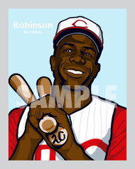 Digital Illustration of Frank Robinson - one of the All-Time Redleg Greats!