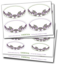Decorative Oval Labels (Rosemary Border)