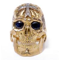 J.W. Cooper 18K Gold Skul Ring