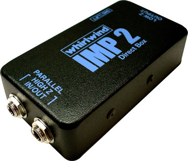 Whirlwind IMP 2 - This converts a line or instrument level unbalanced signal to a low impedance mic level balanced signal.