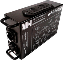 Whirlwind MD-1 - A broadcast quality mic preamp performs alongside a high-performance input transformer to feed the MD-1 high-current line driver and headphone monitor amp.