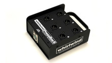 Whirlwind PB06 Press Box - These passive units distribute one line level input to multiple mic level outputs*. Each output is transformer isolated, provides excellent interchannel isolation and is ground lifted to help eliminate noise problems. Whirlwind TRSP-2F transformers are used throughout.