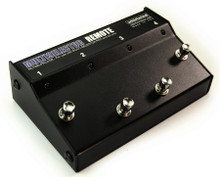 """Whirlwind Multiselector PRO/4X 'Remote' - This remote works with the MultiSelector PRO & 4X only. The optional MultiSelector Remote """"stomp box"""" style footswitch contains four switches that remotely control the switching functions of the rack mount units using a regular 3-pin XLR microphone cable"""