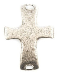 Lenny and Eva Large Cross Pendant - Silver