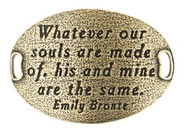 Lenny and Eva Trousseau Sentiment - Whatever our souls are... - Brass