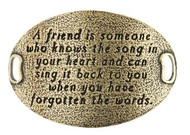 Lenny and Eva Trousseau Sentiment - A friend is someone .... - Brass