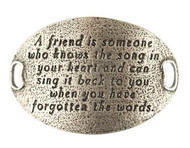 Lenny and Eva Trousseau Sentiment - A friend is someone .... - Silver