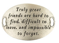 Lenny and Eva Trousseau Sentiment - Truly great friends are .... - Silver