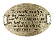 Lenny and Eva Trousseau Sentiment - We are all travelers in .... - Brass