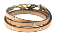 Lenny and Eva Leather Wrap - Camel Studded
