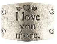 Lenny and Eva I love you more - Silver