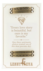 Lenny and Eva Sentiment Bar Set: Mr. and Mrs. - Brass