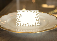 Kitchen Paper - Gold Confetti Placecards