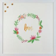 Petal Lane Wreath Love Magnet Board