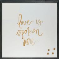 Petal Lane Love Spoken Magnet Board