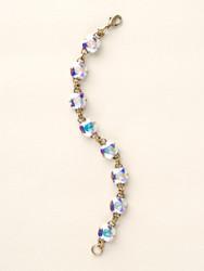 Sorrelli Medium Crystal Aurora Borealis Classic Bracelet - Gold