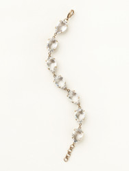 Sorrelli Riverstone Repeating Pear Line Bracelet - Gold