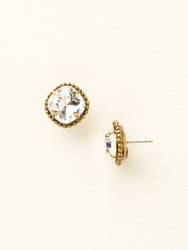 Sorrelli Clear Crystal Solitaire Earring - Gold