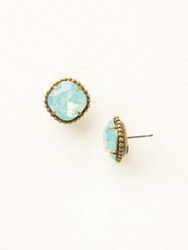Sorrelli Pacific Opal Solitaire Earring - Gold