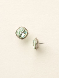 Sorrelli Mint Solitaire Earring - Silver