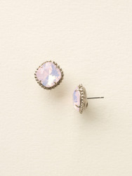 Sorrelli Rose Water Solitaire Earring - Silver