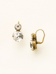 Sorrelli Clear Crystal On the Edge Earring - Gold