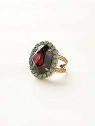 Sorrelli Sangria Glamorous Crystal Ring - Gold