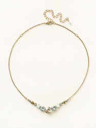 Sorrelli Riverstone Delicate Round Necklace - Gold
