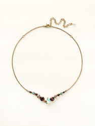 Sorrelli Sangria Delicate Round Necklace - Gold