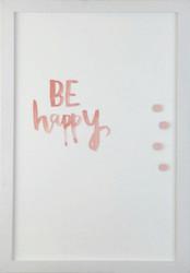 Petal Lane Watercolor Be Happy Magnet Board