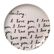 Sugarboo Designs Darling I Love You Plate