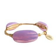Bourbon and Boweties Bangle - Purple Iridescent Oval