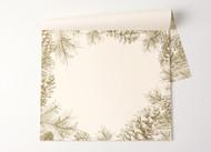 Kitchen Paper - Gold Pinecones Placemat