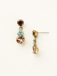 Sorrelli Sangria Classic Clover Earring - Gold