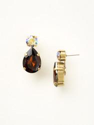 Sorrelli Sangria Teardrop Accent Earring - Gold