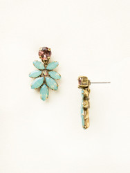 Sorrelli Sangria Floral Navette Post Earring - Gold