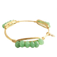 Bourbon and Boweties Bangle - Sage Pebbles