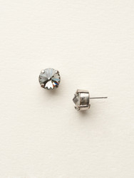 Sorrelli Black Diamond Crystal Stud Earring - Silver