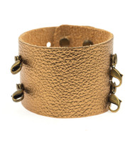 Lenny and Eva Wide Cuff in Metallic Gold