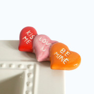 Nora Fleming Conversation Heart Mini