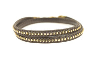 Lenny and Eva Refined Studded Wrap - Taupe