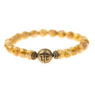 Lenny and Eva Beaded Bracelet - Golden Brown